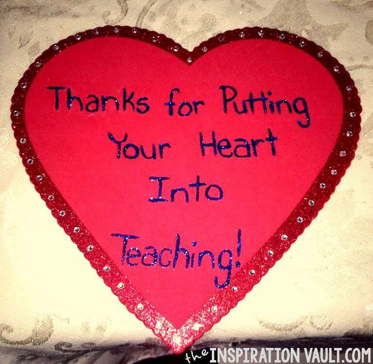 Teacher Appreciation Week - Thank You Heart