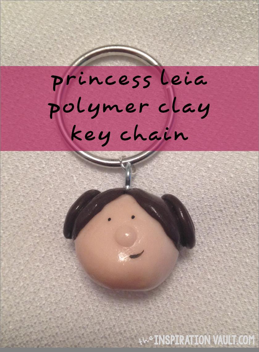 Princess Leia Polymer Clay Key Chain