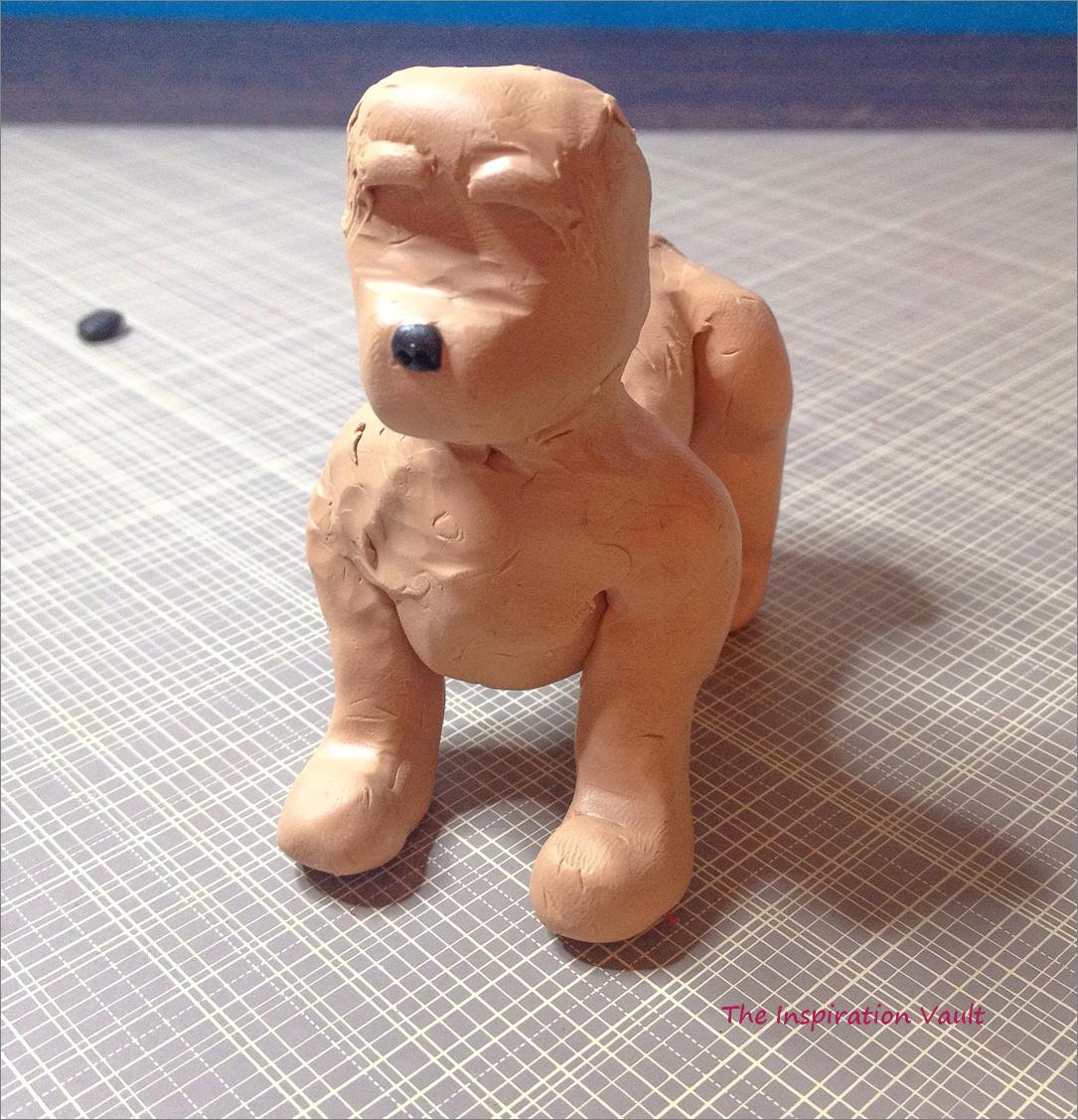 Polymer Shih Tzu Dog Step 2