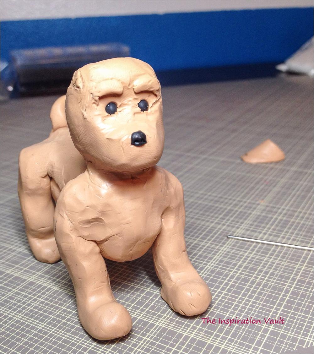 Polymer Shih Tzu Dog Step 3