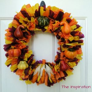 How to Make a Fall Harvest Wreath