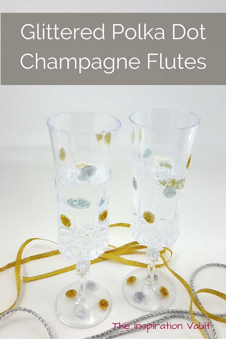 Glittered Polka Dot Champagne Flutes Tutorial