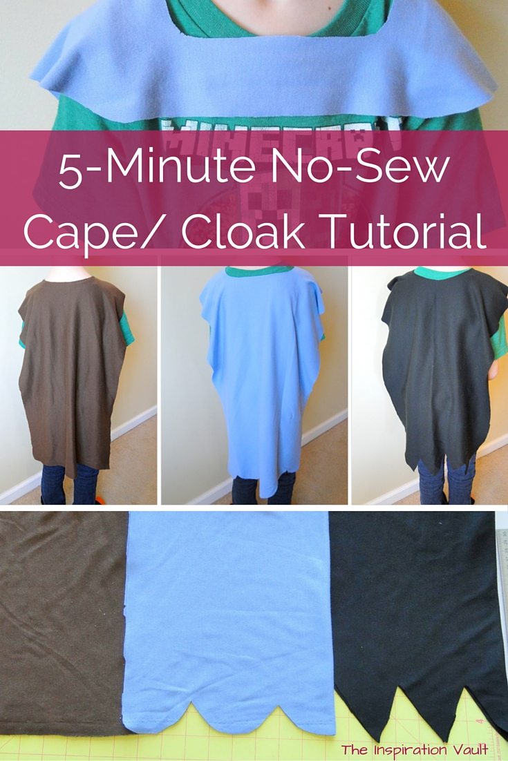 5 Minute No Sew Cape Cloak Tutorial