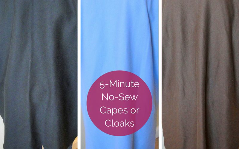 5 Minute No Sew Capes Cloaks Feature Image