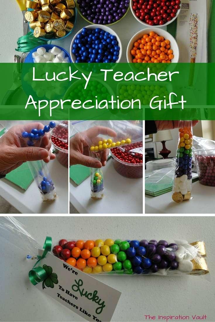 Lucky Teacher Appreciation Gift St Patricks Day Craft Tutorial