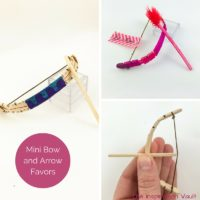 Mini Bow and Arrow Favors Feature Image