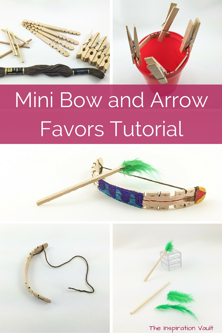 Mini Bow and Arrow Favors craft tutorial party favors