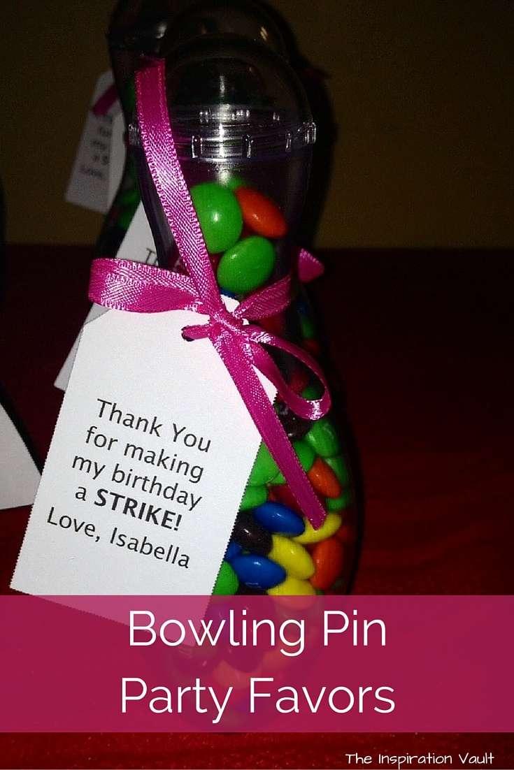 Bowling Party Favors Idea