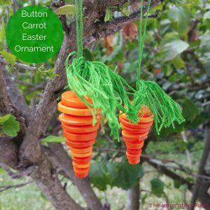 Button Carrot Easter Ornament Feature