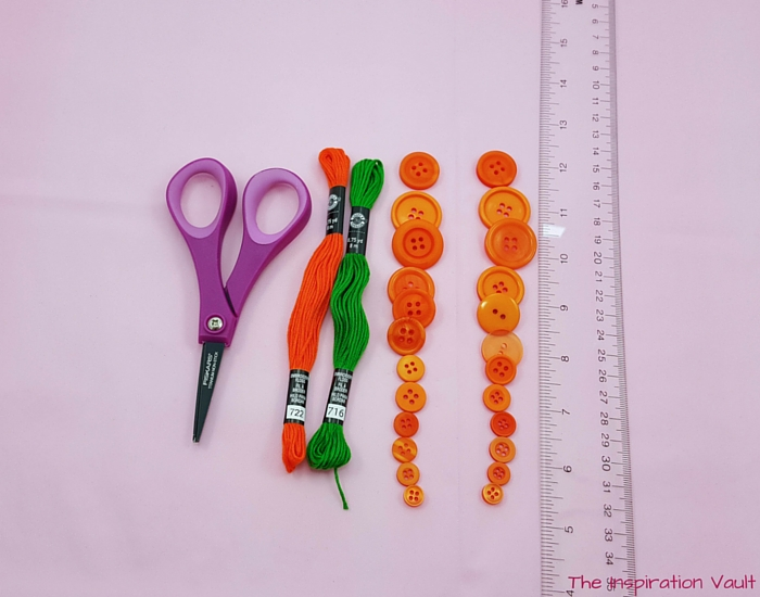 Button Carrot Easter Ornament Materials