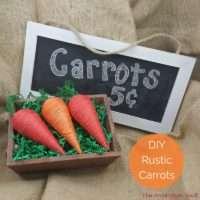 DIY Rustic Carrots Feature