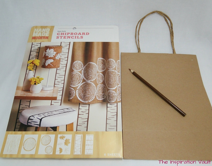 Faux Wood Party Favor Bags Materials 1