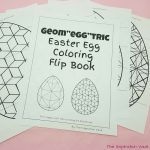 "Geom""egg""tric Easter Egg Coloring Flip Book"