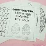 "Geom""egg""tric Easter Egg Coloring Flip Book"