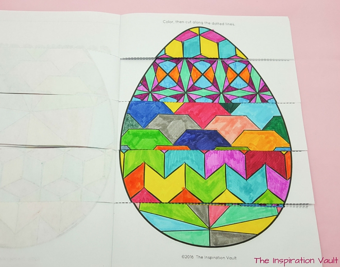 Geomeggtric Easter Egg Step 6a
