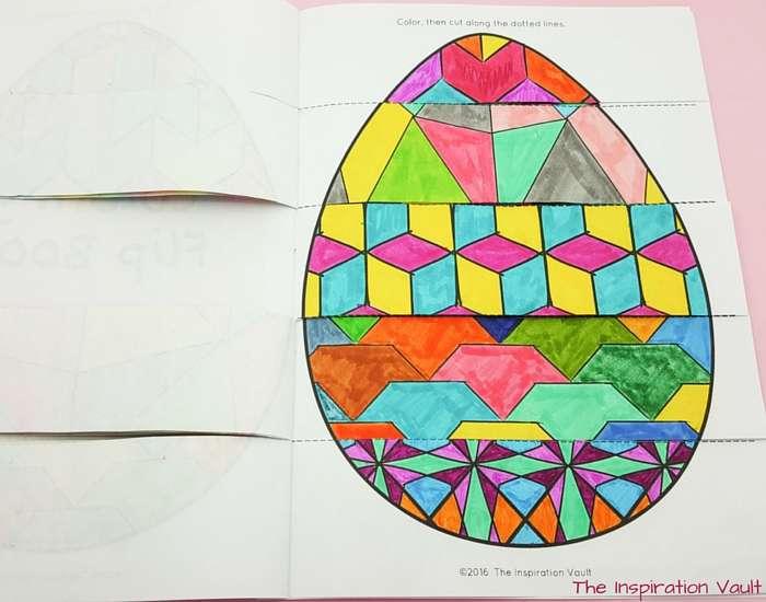 Geomeggtric Easter Egg Step 6b
