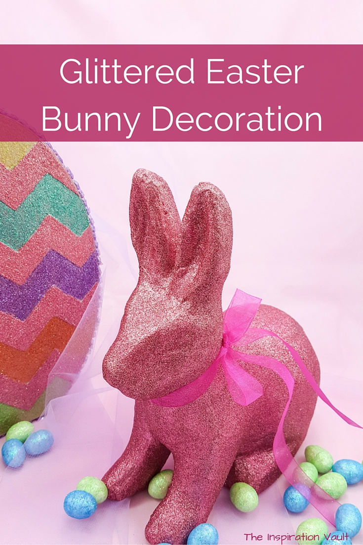 Glittered Easter Bunny Decoration Craft Tutorial