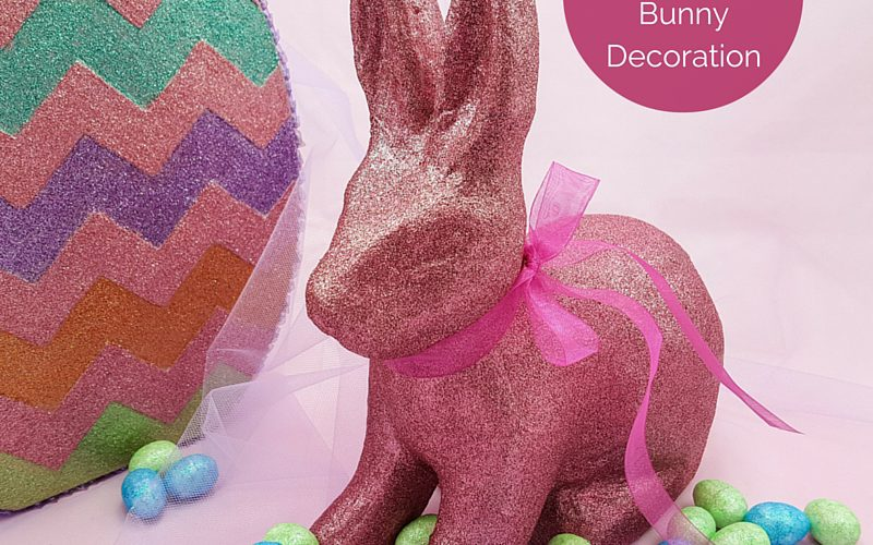 Glittered Easter Bunny Decoration Feature