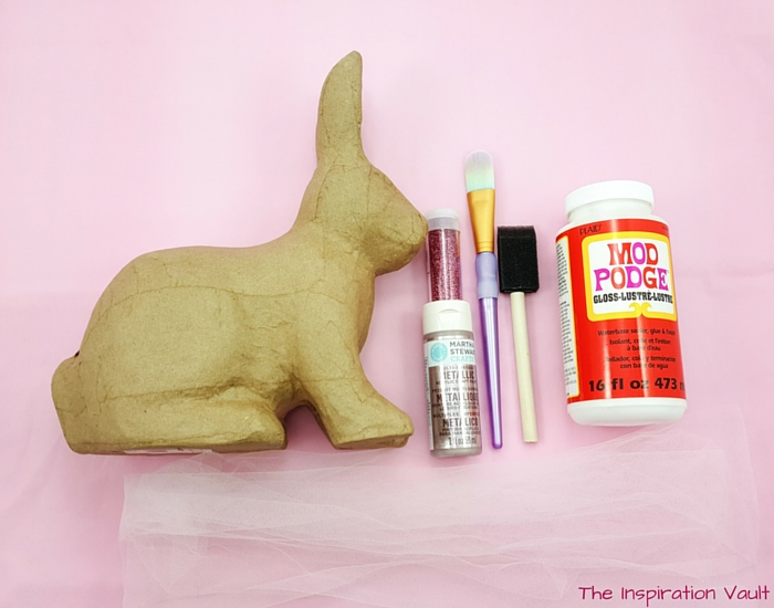Glittered Easter Bunny Decoration Materials