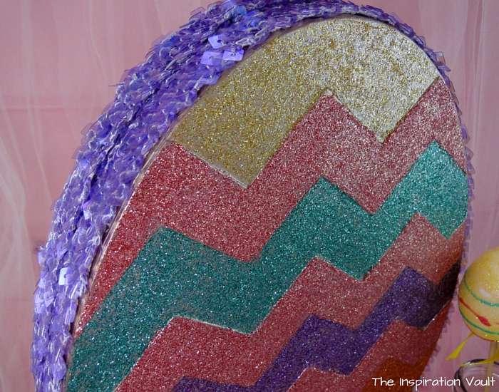 Glittered Easter Egg Decoration Close Up 1