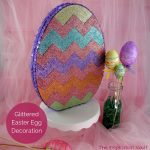 Glittered Easter Egg Decoration