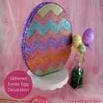 Glittered Easter Egg Decoration