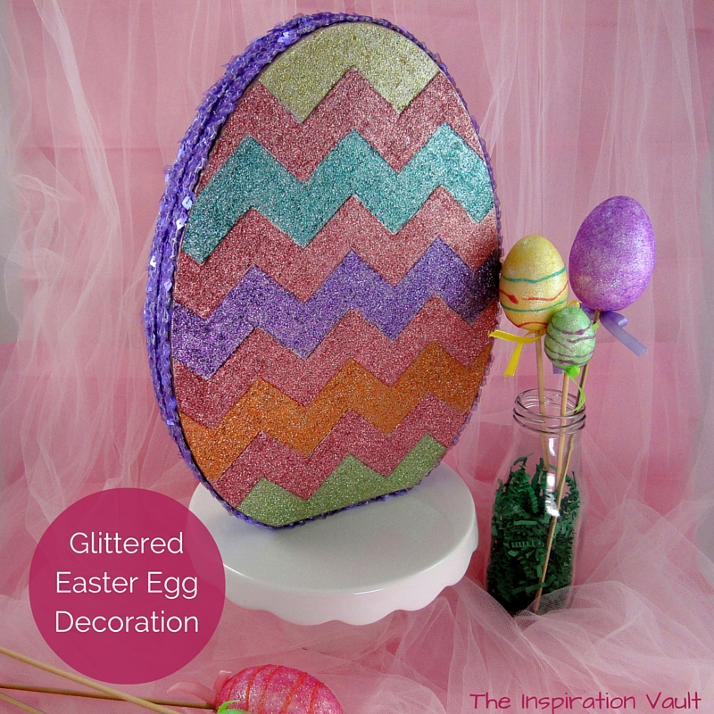 Glittered Easter Egg Decoration Feature