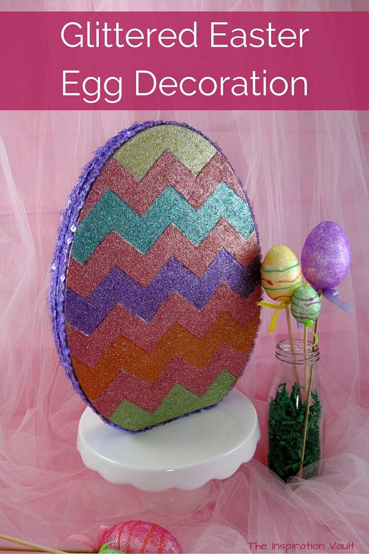 Glittered Easter Egg Decoration Tutorial