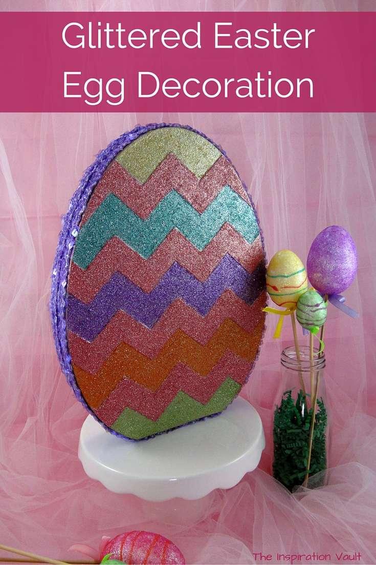 Glittered Easter Egg Decoration Tutorial