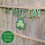 Glittered St. Pats Day Banner