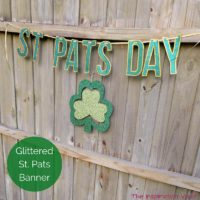 Glittered St Pats Day Banner Feature