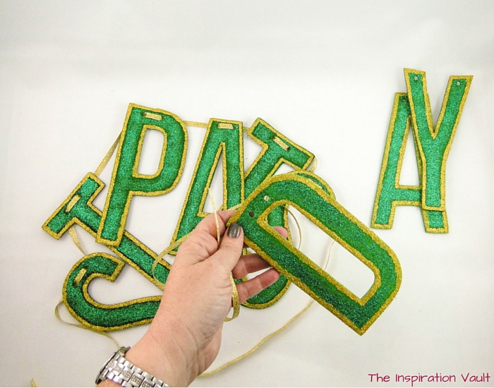 Glittered St Pats Day Banner Step 6a