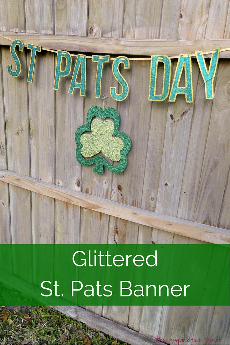 Glittered St Pats Day Banner Tutorial Craft St. Patrick's Day