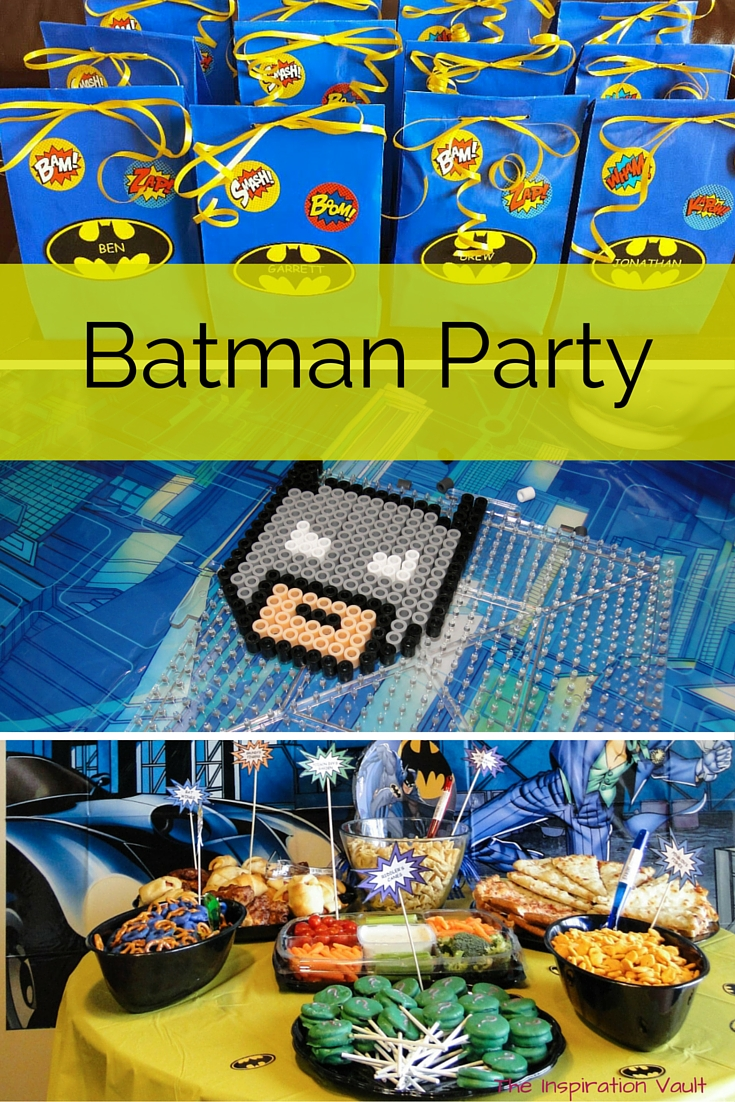 Batman Party Overview. Decorations, Food, Games, Favors