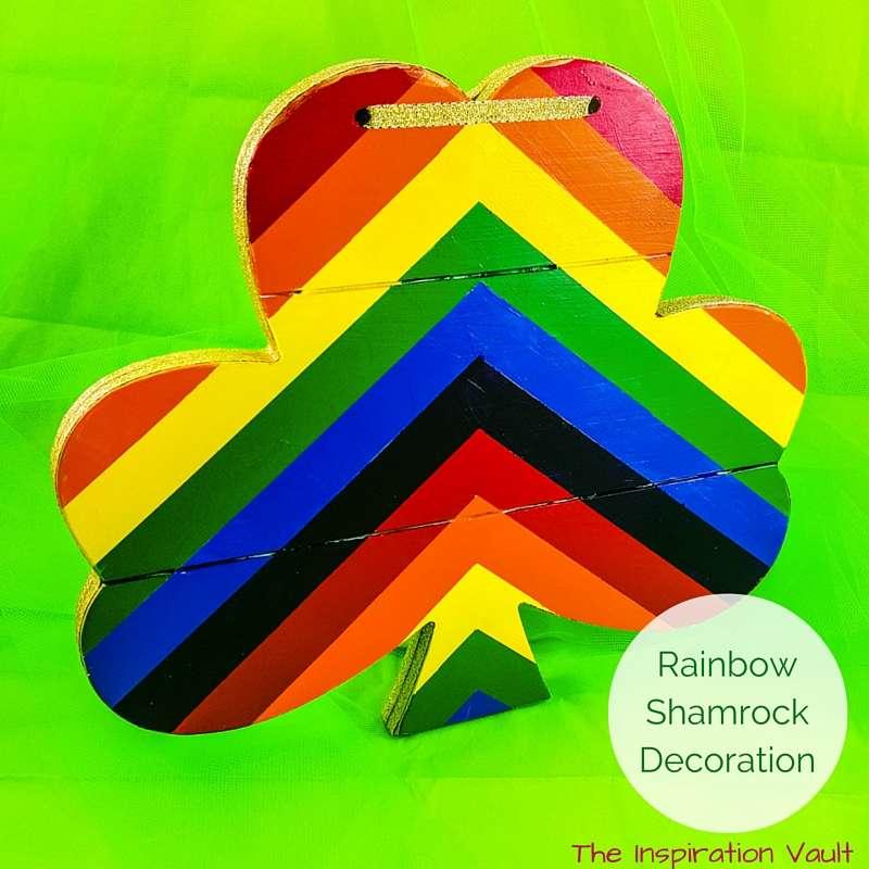 Rainbow Shamrock Decoration Feature
