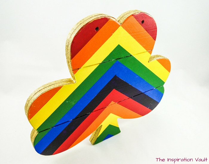 Rainbow Shamrock Decoration Step 11b
