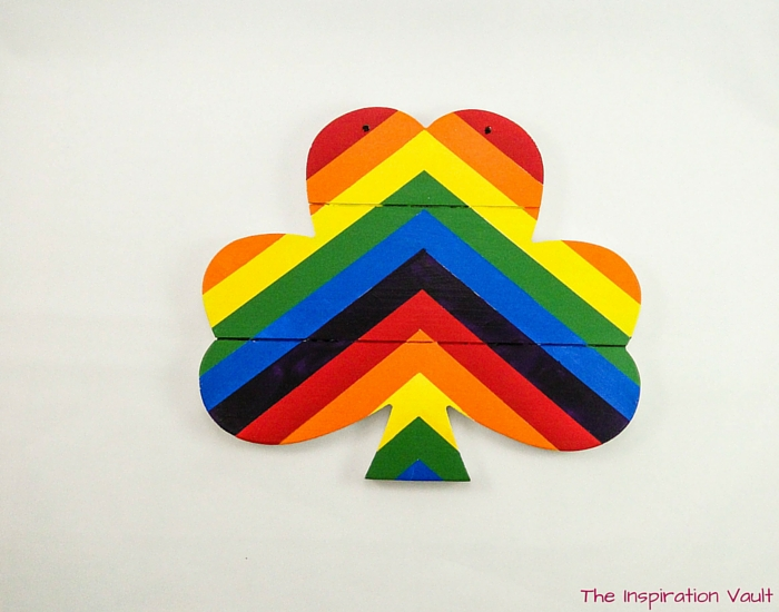 Rainbow Shamrock Decoration Step 8b