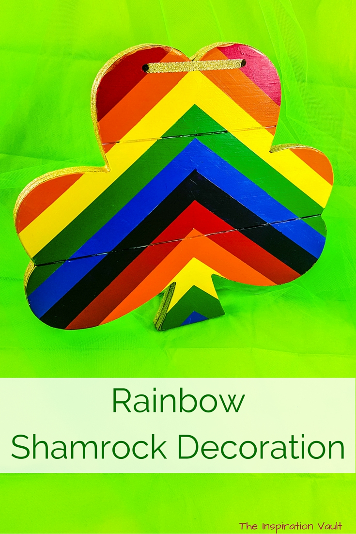 Rainbow Shamrock Decoration craft tutorial st Patrick's Day