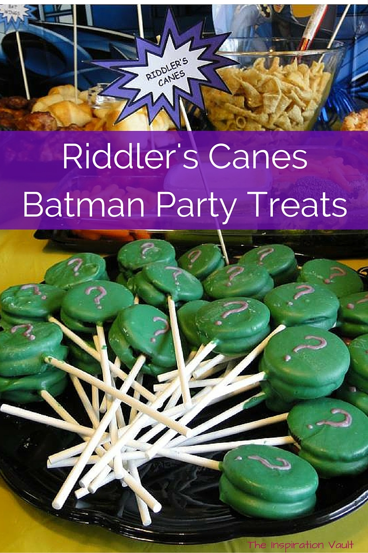 Riddler's Canes Batman Party Treat