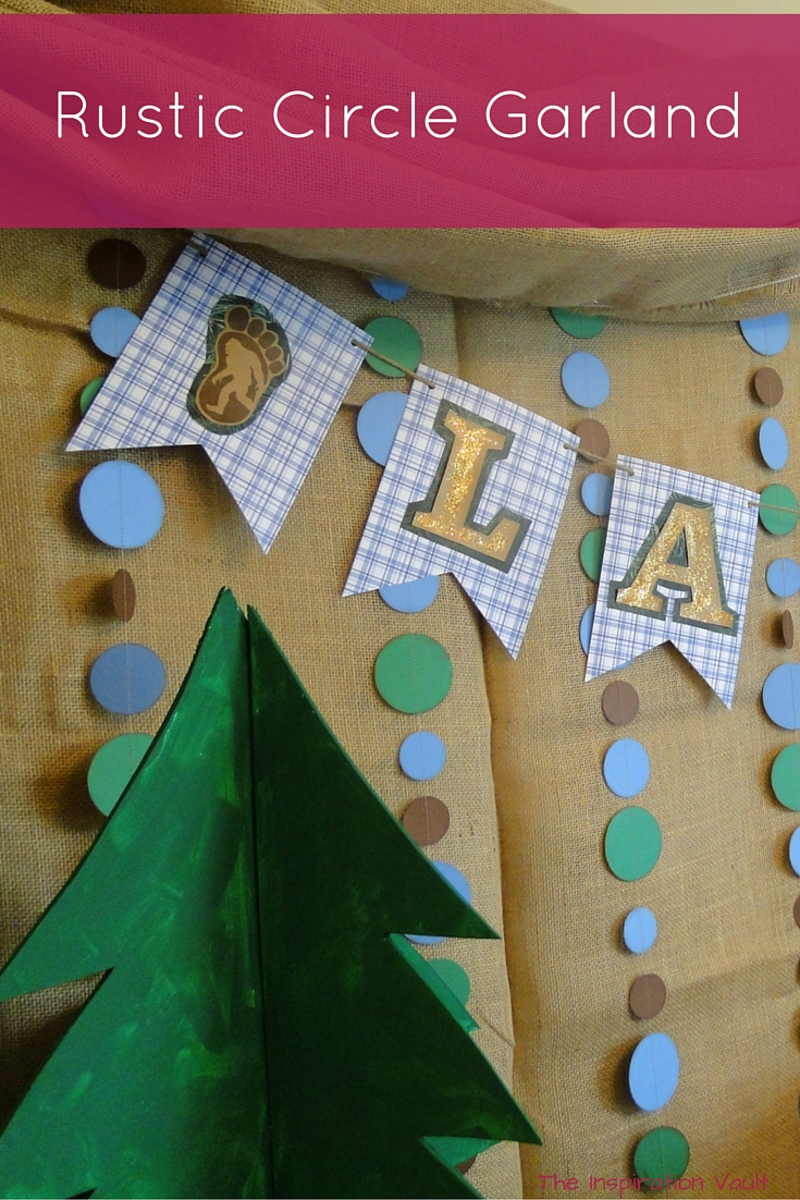 Rustic Circle Garland craft tutorial party decoration