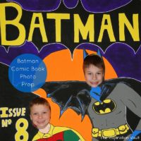 Batman Comic Book Photo Prop Feature