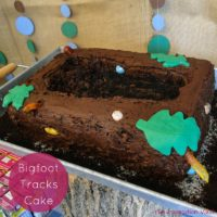 Bigfoot Tracks Cake Feature