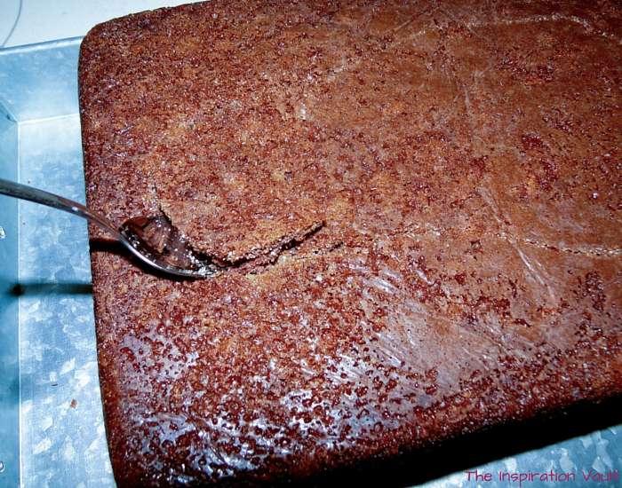 Bigfoot Tracks Cake Step 18