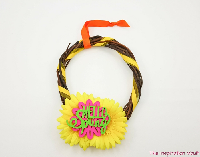 Bright Spring Wreath Complete