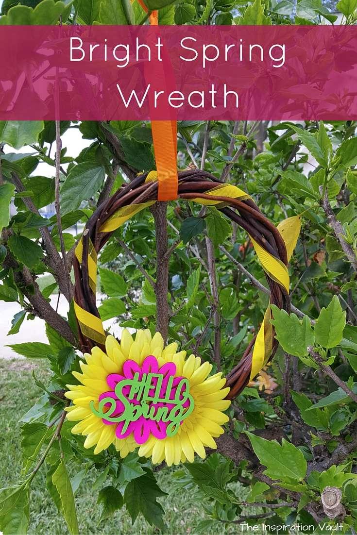 Bright Spring Wreath Craft Tutorial