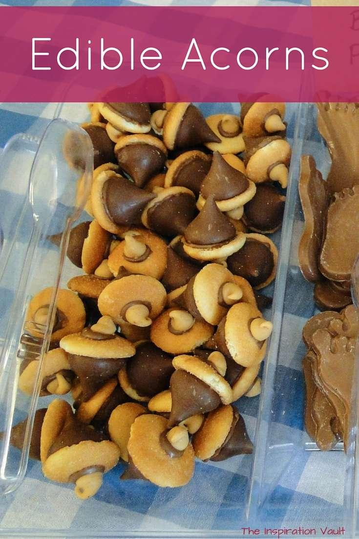 Edible Acorns Bigfoot outdoors camping Party Food tutorial