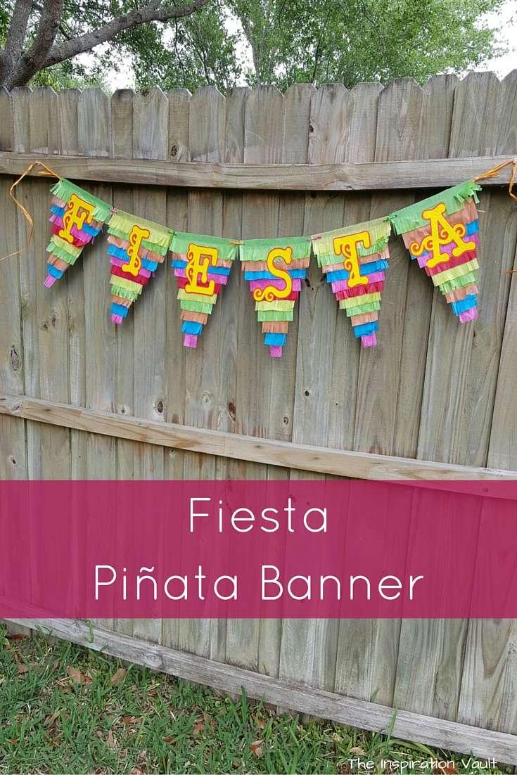 Fiesta Pinata Banner Craft Tutorial Cinco de Mayo Party