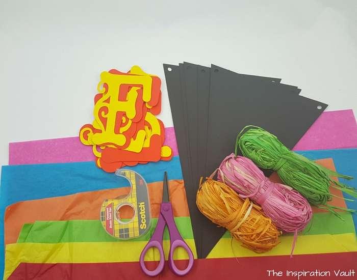Fiesta Pinata Banner Materials