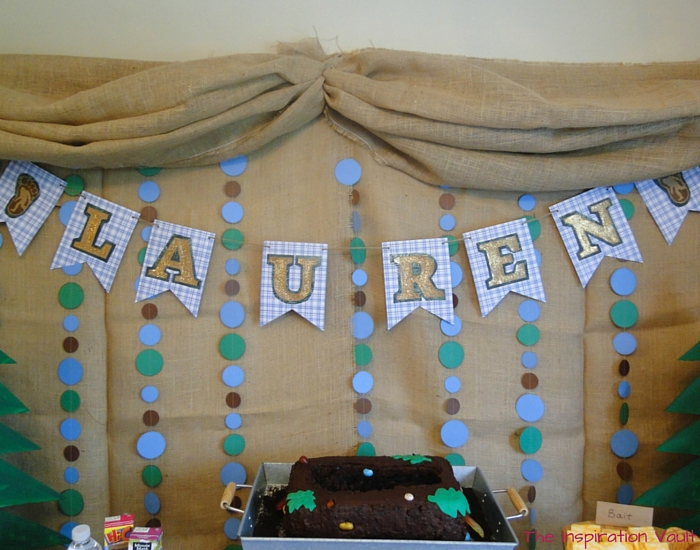 Glittered Rustic Banner Complete