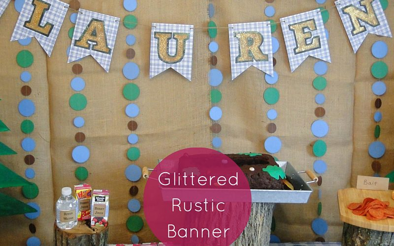 Glittered Rustic Banner Feature